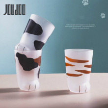 JOUDOO Creative Cute Cat Paws Glass Tiger Mug Office Coffee Tumbler Personality Breakfast Milk Porcelain Cup Gift 35