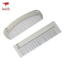 Keith giáp nguyên chất titanium Lược bền chống tĩnh điện ngoài trời du lịch di động sáng tạo tùy chỉnh Titanium tóc