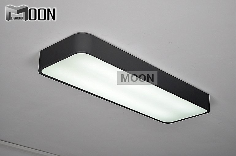 Rectangle Black Led Ceiling Light Re White Acrylic Lamp Fixture Meerosee Ing Md2547 In Lights From
