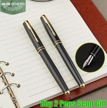 Free Shipping Genuine Hero 5020 Fountain Pen Office Executive Writing Full Metal Luxury Pen Buy 2 Pens Send Gift стоимость
