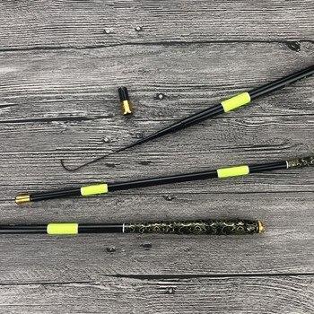 New Carbon Portable Fiber Telescopic Fishing Rod 1.8-5.4M Ultrashort Stream Hand Pole Ultra Light Carp Spinning Fishing Rod