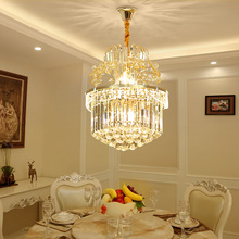 Restaurant chandelier European crystal chandelier modern dining room lamp luxury atmosphere home bedroom living room lighting european style luxury 6 lights led chandelier crystal home ceiling fixture pendant lamp lighting dining room bedroom living room