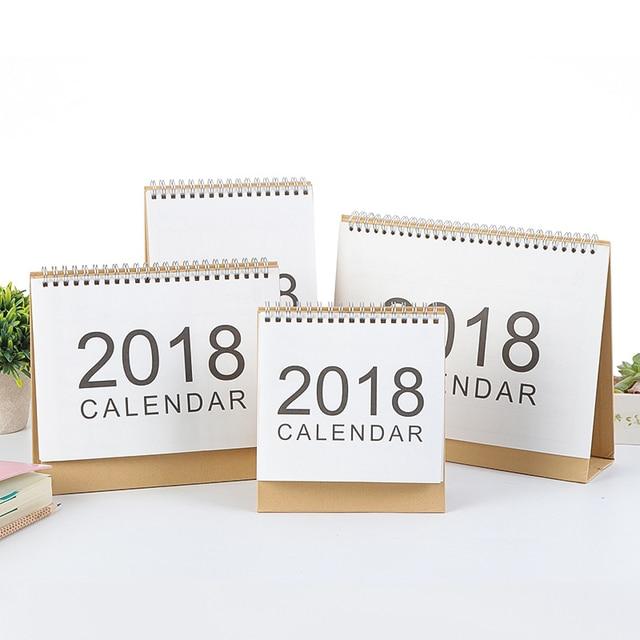 2018 Calendar Simple Desk Paper Calendar Weekly Planner Organizer To ...