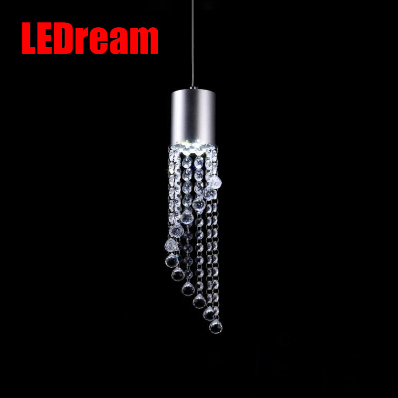 Led restaurants light bar crystal droplight creative personality  contracted table dining room single head meals chandeliers european restaurant bar counter personality single head droplight creative crystal glass chimney droplight sitting room