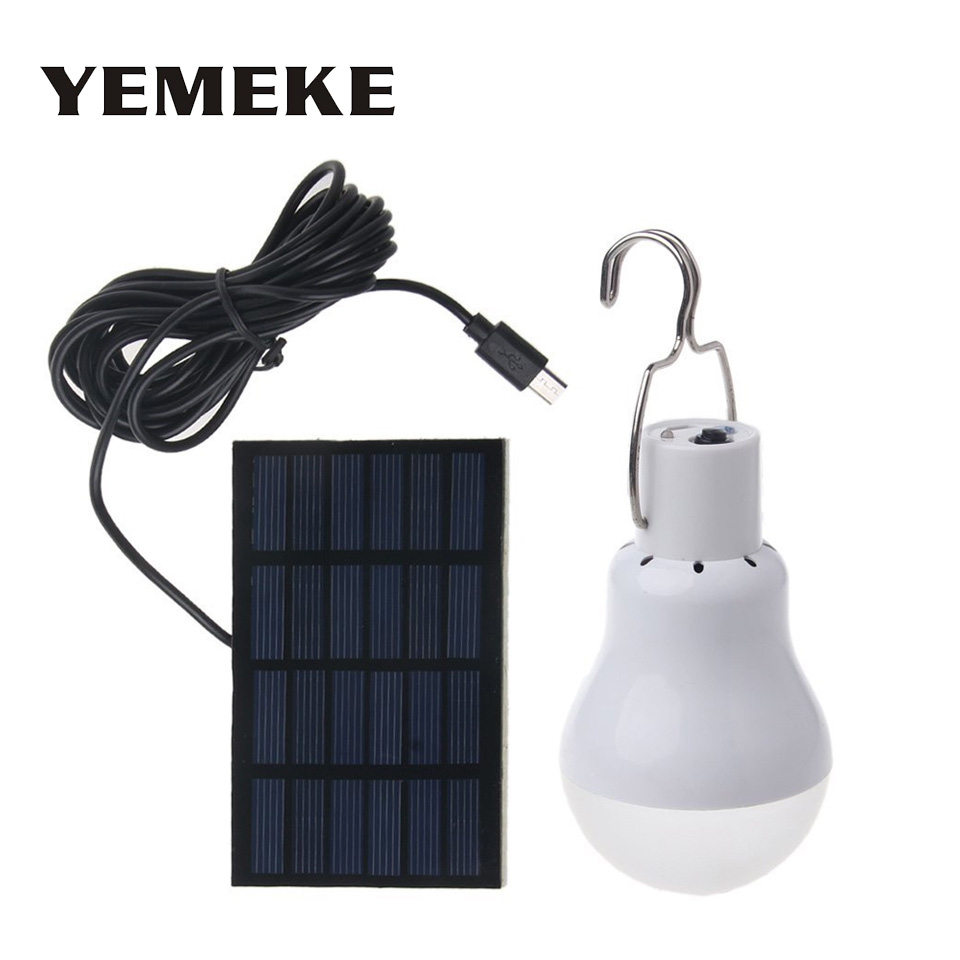 LED Solar lamp 15W 130lm LED Solar Energy Saving Bulb Lamp LED Solar Light For Camping Tent Fishing Courtyard Emergency lighting