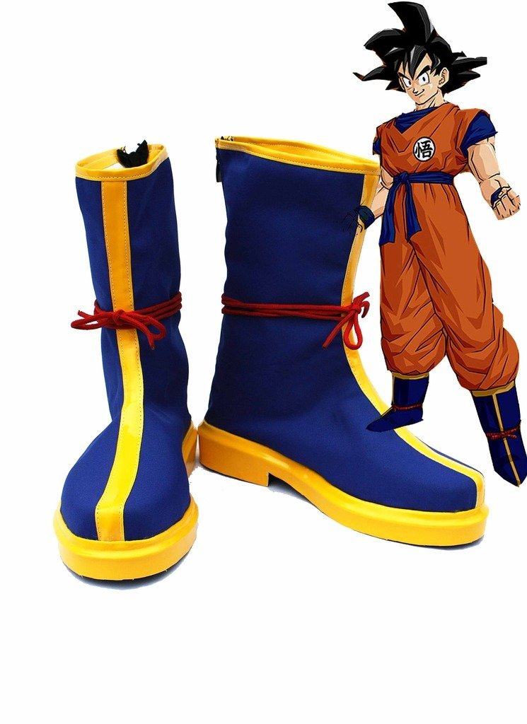 Anime Dragon Ball Monkey King Son GoKu Kakarot Cosplay Shoes Blue Boots Custom Made Any Size