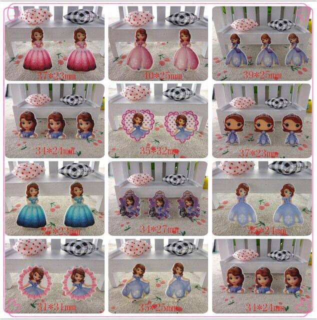 17121704, flat back planar resin 10pcs/lot cartoon princess flatback planar resins for kids diy decoration crafts accessories