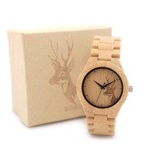 37 мм женщины часы bobo bird люксовый бренд ручной бамбука часы с дерева ремешок наручные часы relogio feminino c-e04
