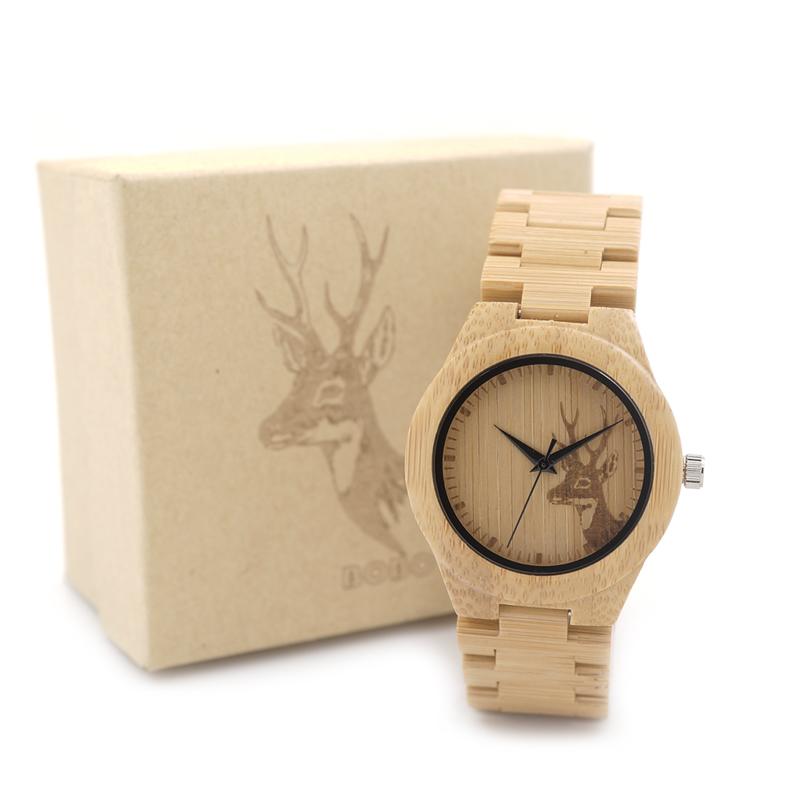 Prix pour 37mm femmes montres bobo bird marque de luxe à la main bambou montre avec bois bracelet bracelets relogio feminino c-e04