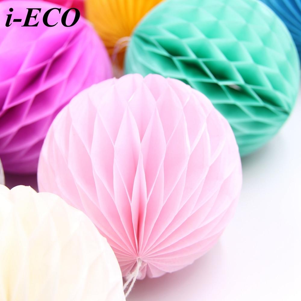 Diy thanksgiving paper decor - 10pcs 4 Multi Colors Tissue Paper Lantern Honeycomb Ball Diy Kids Birthday Wedding Party