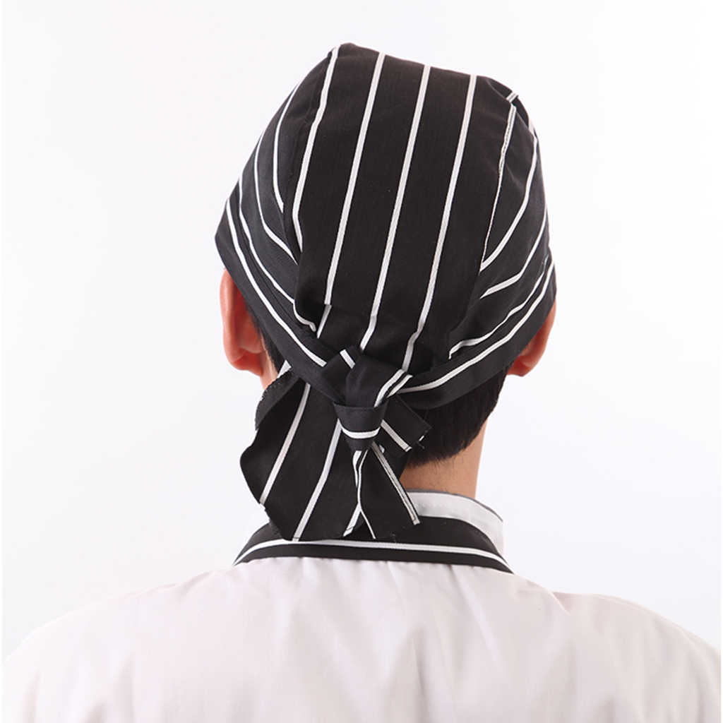 New Fashion Unisex Catering Chef Hat Headwrap Bandana Hat Head Do Tied Caps for Chefs Cooks Bakers Hotels