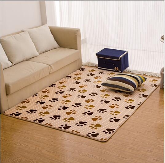 1PC Coral Velvet Soft Carpet Area Rug Slip Resistant Door