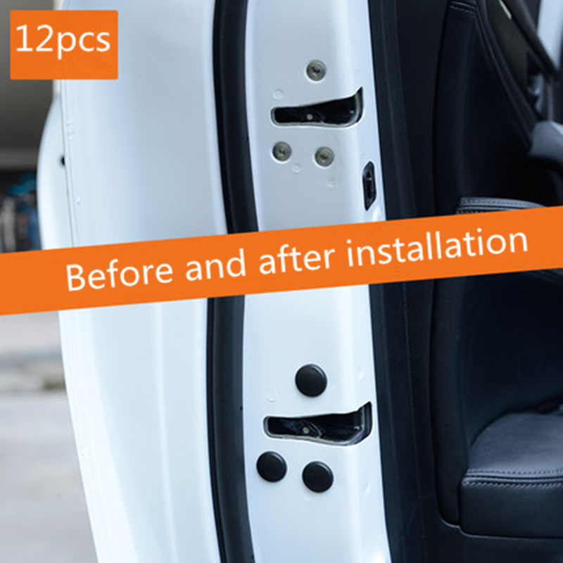 12 PC Khóa Cửa Ô Tô Vít Nắp Bảo Vệ Tự Động Phụ Kiện Dành Cho Xe Hyundai IX35 IX45 Sonata Verna Solaris Elantra Tucson Mistra IX25