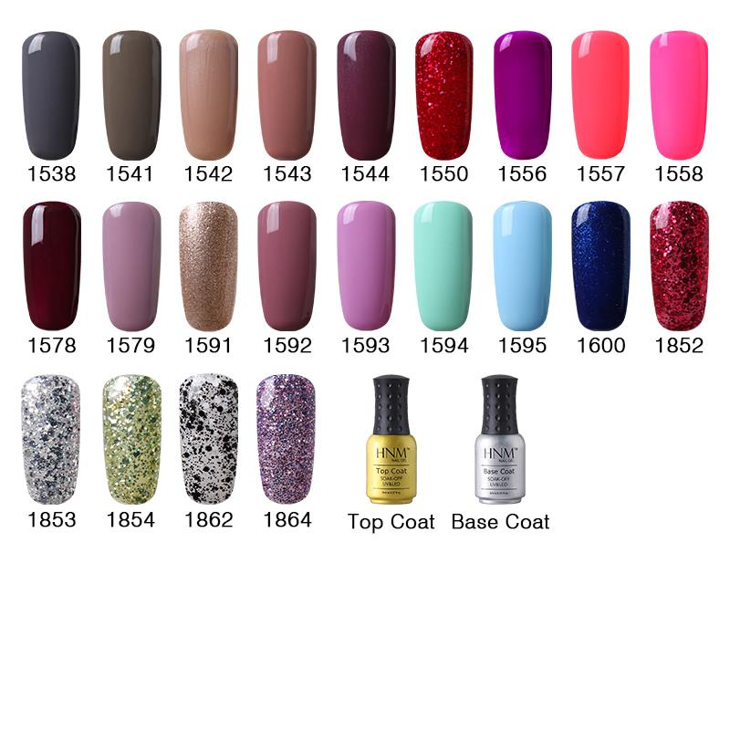 Aliexpress Hnm 8ml Soak Off Uv Gel Nail Polish Whole Nails Lacquers Colors Manicure Top Base Coat Free Tip Guides From Reliable