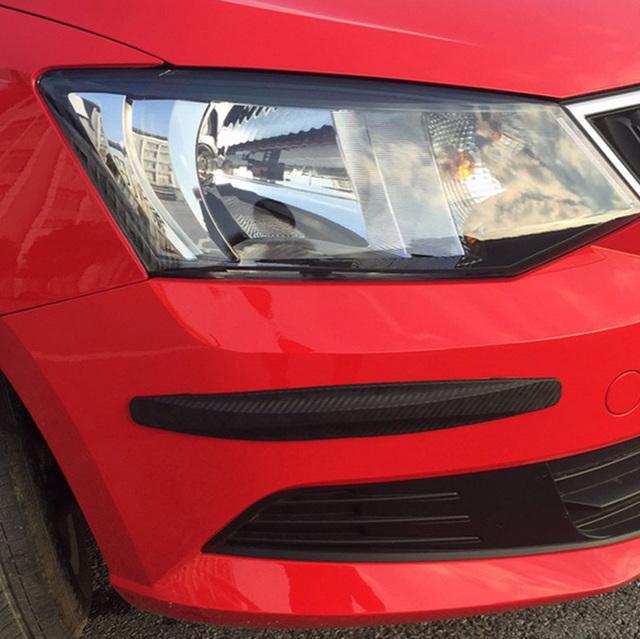 Car Bumper Protector Strips Guard Corner Anti-collision Protective Trim bar Black White Grey Car Accessories 2pcs