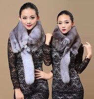 Female Winter Plus Size Fox Skin Muffler Thickening Scarf Fox Fur Woman Fur Fox Fur Muffler Warm Scarf Cape