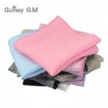Новые мужские хлопковые тканые носовые платки одноцветные носовые мужские деловые повседневные карманные Квадратные платки свадебные носовые платки