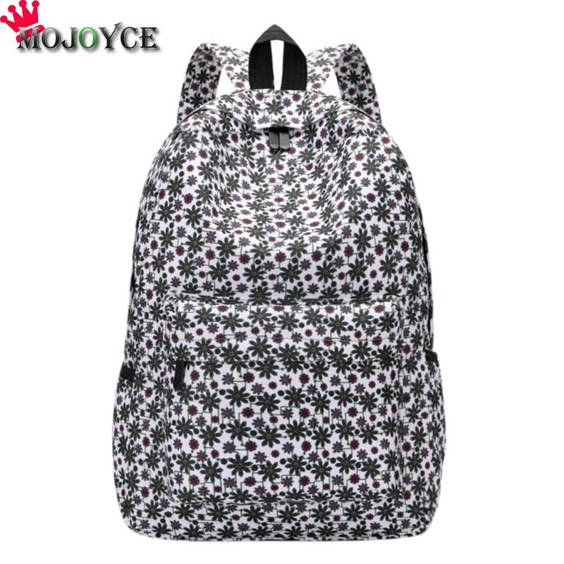 3D Flowers Print Shoulder School Bags for Teenage Girls Travel Laptop Backpack Female Canvas Backpacks Mochila Feminina 2018