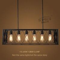 Винтажные черные промышленные подвесные светильники висит свет E27 Edison лампы Американский Лофт Стиль для ресторана/крючок столовая лампа