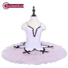 Girls White Ballet Tutu Stage Wear Children Performance Dancewear Kids Ballet Dance Competition Costumes Adult Ballet Skirt