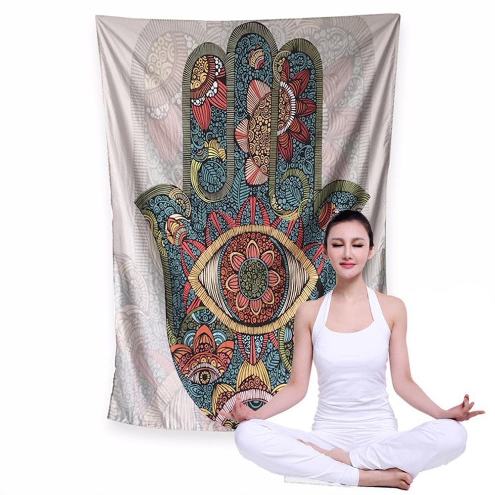 New Tapestry Stylish Art Hamsa Fatima Hand Wall Hanging Yoga Tapestry Bedroom Picnic Blanket