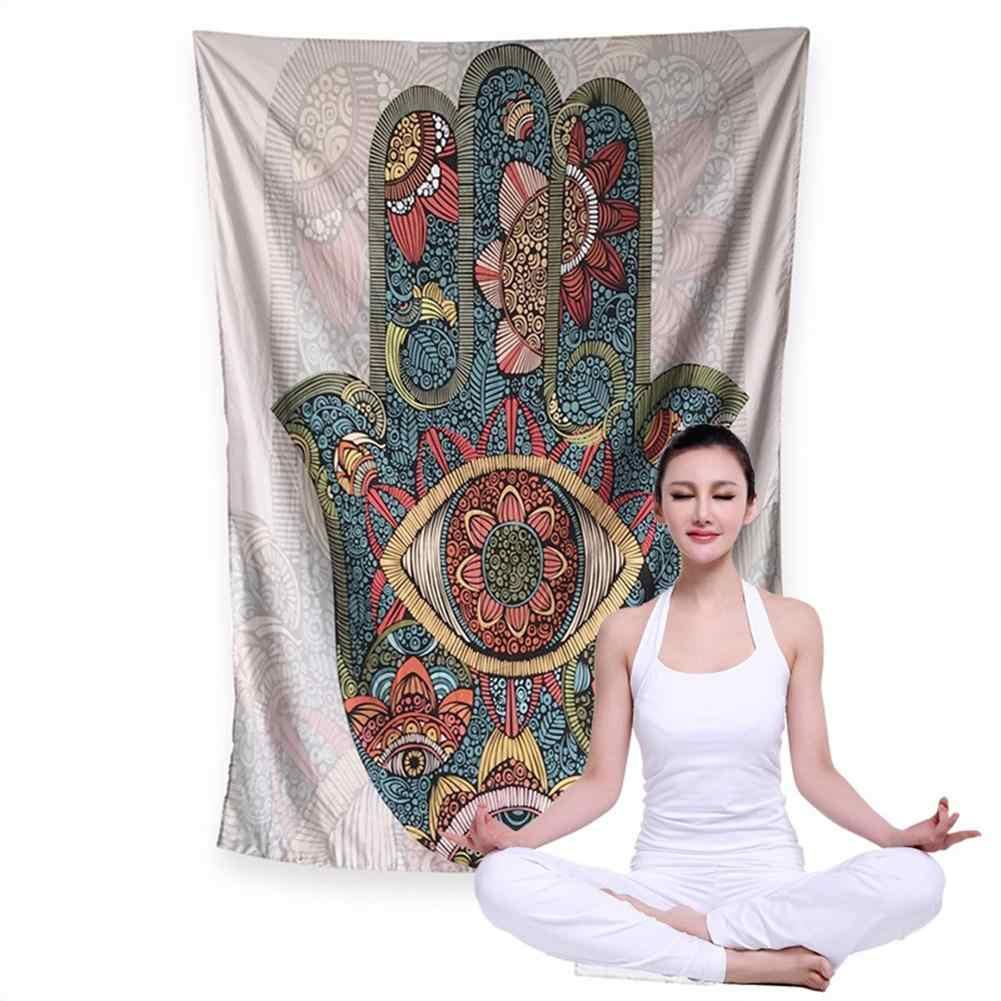 Nuevo tapiz de arte elegante Hamsa Fátima Pared de mano colgante Yoga tapiz dormitorio manta de Picnic