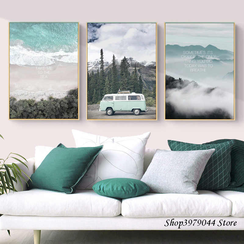 Scandinavian Style Travel Landscape Canvas Wall Art Poster Nordic Print Painting Nature Decoration Photos Modern Home Unframed