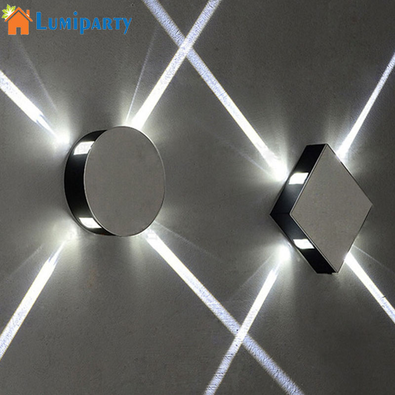 LumiParty Simple 85 265V LED Cross Narrow Beam Aisle LED Wall Lamp Bedroom Corridor Staircase Indoor Spot Lights