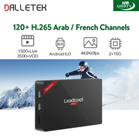 IPTV Arabic French Leadcool Pro Smart Android TV Box H 265 Channels 1 Year QHDTV PRO