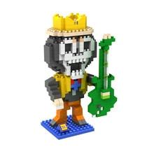 LOZ 9824 Japanese Anime Series One Piece Brooke Diamond Bricks Minifigures Building Block Compatible with Legoe
