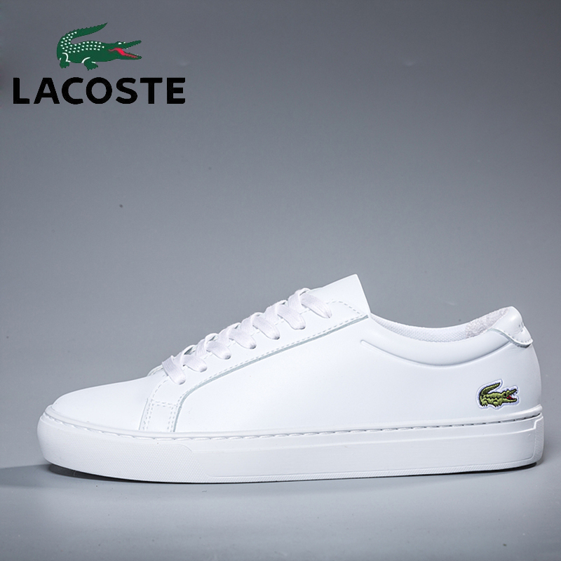 Lacoste Men's Outdoor Skateboarding Shoes White Leather Sports Athletic Gym Sneakers Men Breathable Soccer Tennis Walking Shoes turbo housing k03 53039700118 53039700181 53039700163 0163 118 for mini cabrio cooper s r55 r56 r57 ep6 ep6dts 1 6l n14 b16a n18