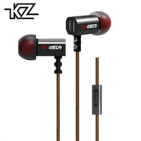 KZ ED9 Hifi Wired In Ear Earphones For Phone IPhone Player Headset Headphones With Microphone Ear