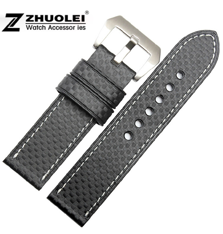Watch Strap 22mm 24mm 26mm New Mens Black Top Grade Quality Carbon Fiber Waterproof Band Bracelets for GARMINFenix3