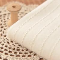 Beige Yarn Jacquard Striped Cotton Cloth Shirt Blouse Suit Dress Skirt Fabric