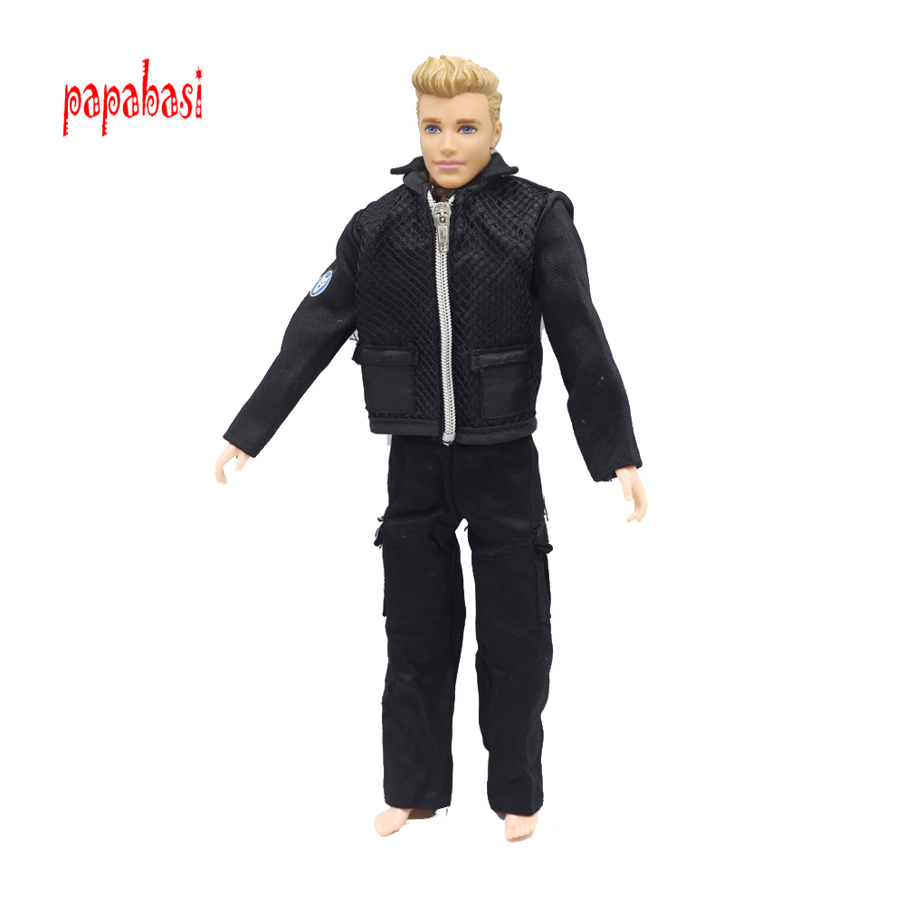 все цены на Papabasi Original Prince Clothes Combat Police Uniform Cop Outfit For Barbie Boy Male Ken Doll For Lanard 1/6 Soldier Best Gift онлайн
