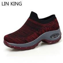 Lin king/Женская Повседневная дышащая обувь большого размера;