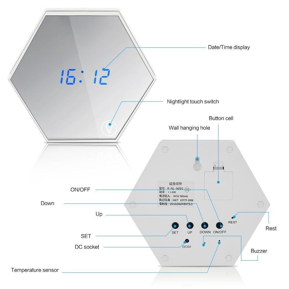 1pcs Multi Function Touch Sensing Led Digital Alarm Clock Night Leds Temperature Indicator Circuit Diagram B9 5981 6