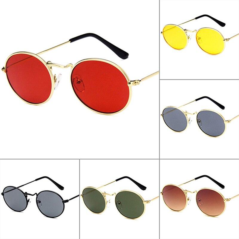 Vintage Oval Sunglasses Women Men Retro Clear Lens Eyewear Sun Glasses