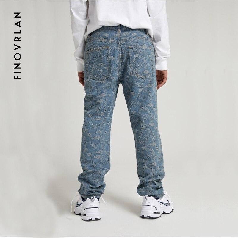 Hip Hop Baggy Jeans 2019 Neuheiten Cashew Lose Fit Breite Bein Denim Hosen Skateboardfahrer Streetwear