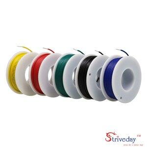 Image 2 - UL 1007 20 22 24 26AWG ケーブルライン PCB ワイヤ錫メッキ銅 5 色ミックスソリッドワイヤキット電線 DIY