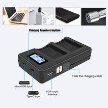 EN EL14 EN EL14A ENEL14 EL14 ładowarka USB z wyświetlaczem LCD dla Nikon D3400,D5500,D5300,D5200,D3200,D3300,D5100,D3100,D5600,P7800,P7100