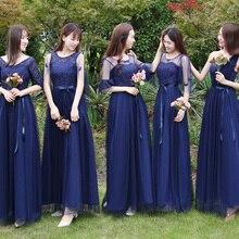 Сладкие воспоминания, платье подружки невесты с коротким рукавом, платья подружки невесты, sw0014 светло-серый темно-синий