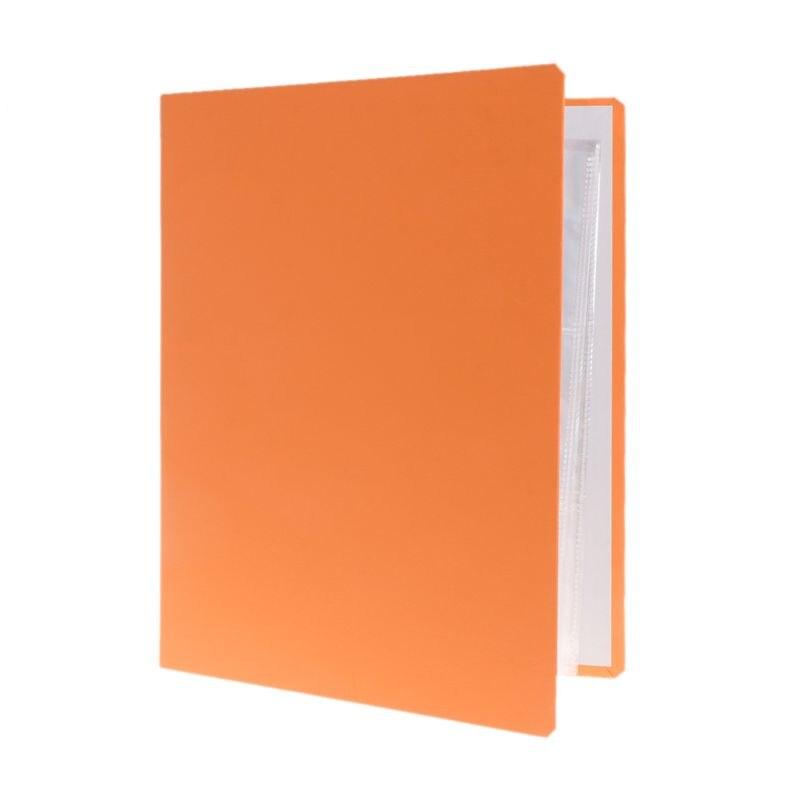 Álbum De Plástico Protector De Carpeta Mangas Para Tarjetas 9 bolsillos 25 páginas Transparente