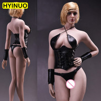 1/6 Scale 17XG07 Women Sexy Panties Female Sexy Leather Underwear Clothes Clothing Set F 12 Action Figure Female Body Doll