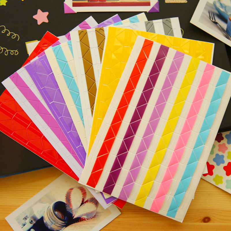 3 pages (306 pcs) photo album Scrapbook photo Corner Protectors DIY Handmade Sticker Decor for Scrapbooking Free shipping