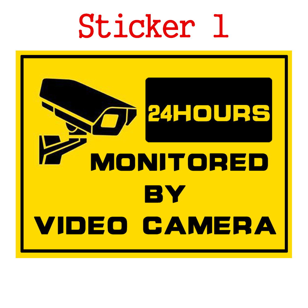 1pcs Security Warning Stickers 24 Hours Safety Alarm Warning Decal Signs Surveillance Camera Mark CCTV Alert Sign Stickers 24 hours cctv security warning board transparent black multi colored