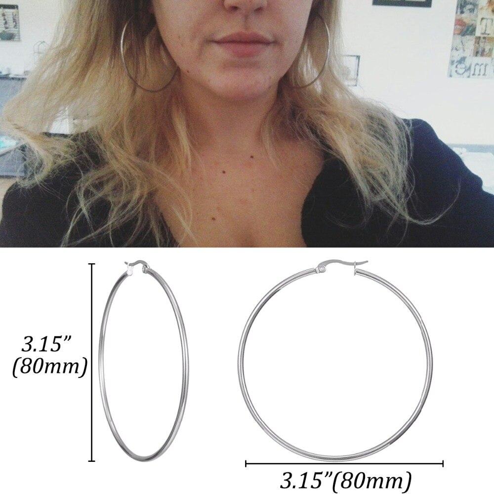 HUGE HOOP EARRINGS FOR WOMEN 0