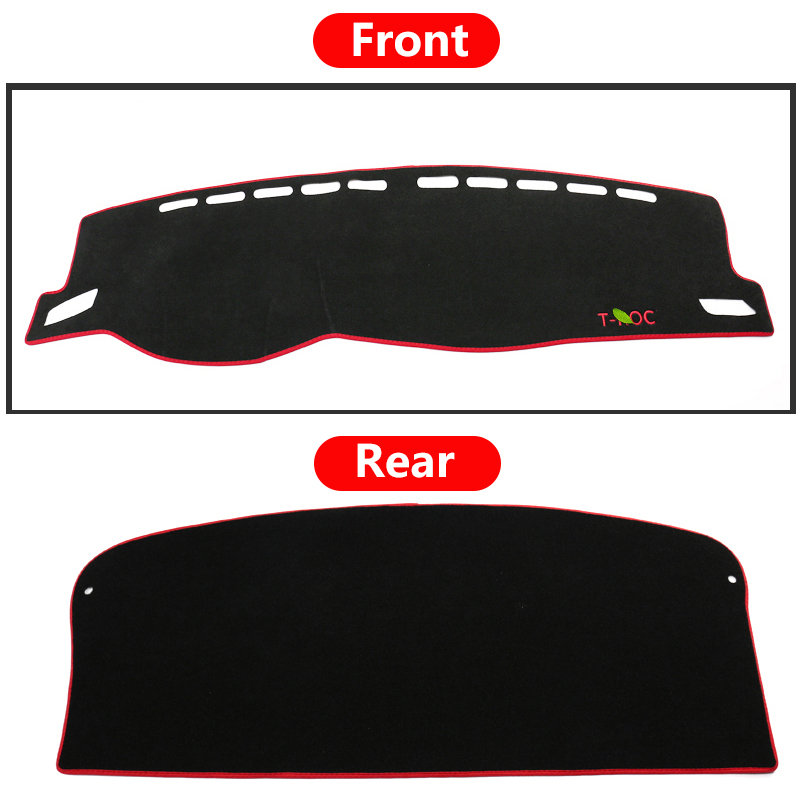 Image 5 - Car Dashboard Cover Mats Avoid light Pad Instrument Platform Desk Carpets Trim LHD For Volkswagen VW T ROC T ROC TROC 2017 2018-in Interior Mouldings from Automobiles & Motorcycles