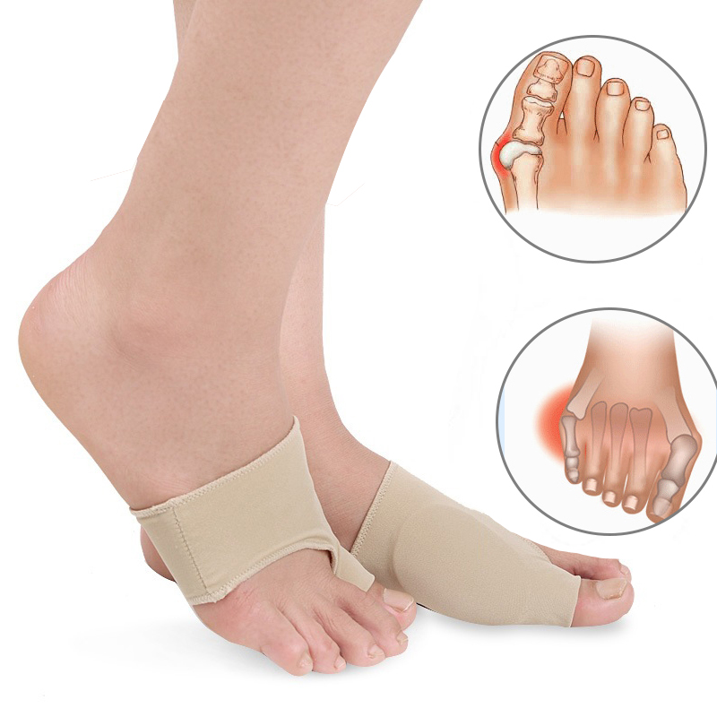1PairSilicon Insoles Socks Orthotics 겹쳐진 큰 발가락 교정기 발 관리 Bunion 젤 슬리브 Hallux Valgus Bone Pain Relief