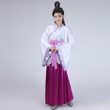 Lady hanfu chinese traditional ancient tang suit Hanfu costumes adult female womens dress stage dresses
